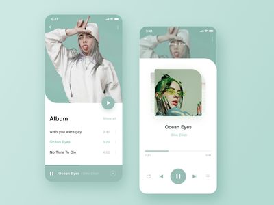 Music Player App apple uiux ui typography players musician modernism player music modern minimal layout interactive app design comment clean app