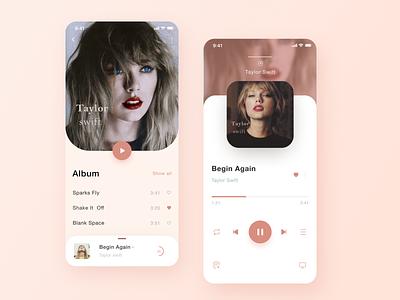 Song application program design uiux track song plauer motes music mobile lyics karaoke ios interface instrument iocns graphics design cuberto app