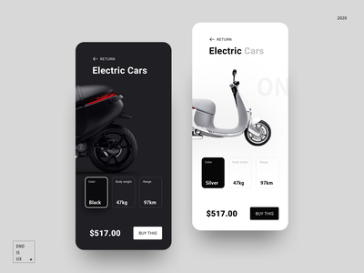 Electric car purchase application uiux tracking track profile payment navigation mobileapp buy moped electric cars illustration 界面设计 ui app