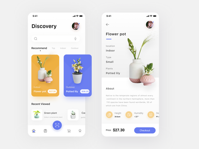 Plant Shop Mobile App flowers potted 界面设计 welcome tree tags sign in plants plant nature mobileui mobileapp mobile login leaves leaf iphone flower description application