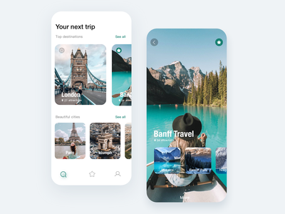 Tourism app conceptual design 概念 旅游 ux branding illustration web design 插图 app 设计 ui