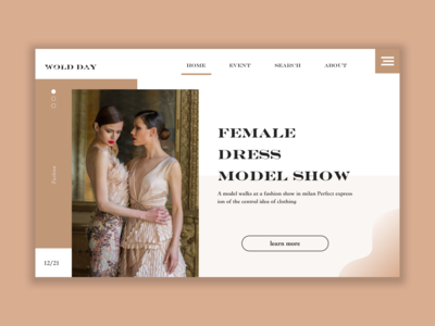 Fashion week web design