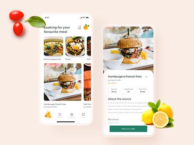 Food applications buy 概念 ux ui recipe ios interface illustration icons graphics food figma dish suisine cuberto cooking cook book app