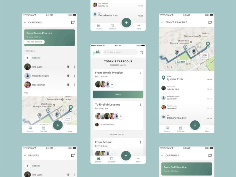 GoKid App ux ui design app
