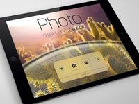 Photo Quality Check v.20 home screen landscape prototype