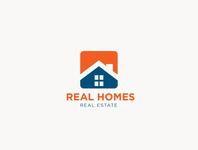 Real Homes logo design