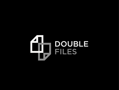 Double files logo design