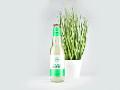 330ml Clear Glass Bottle Mockup showcase freebie free psd download free download bottle mockup mockup glass bottle