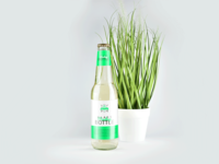 330ml Clear Glass Bottle Mockup