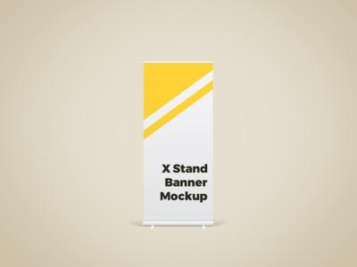 X Stand Banner Mockup showcase mock-up freebie psd free free psd branding free downlaod x stand mockup mockup