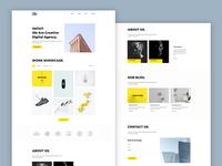 Mint - Minimal Portfolio Template responsive portfolio singlepage free psd portfolio template web template