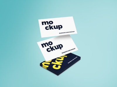 Flying Business Card Mockup business card mockup showcase business card free psd mockup free psd