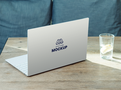 Laptop Back Cover Mockup free download showcase laptop cover free mockup device mockup