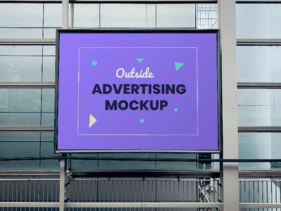 Outdoor Advertising Panel PSD Mockup freebie free psd free download mockup advertising billboard outdoor