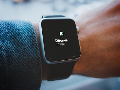 Smartwatch on Hand PSD Mockup free psd free mockup mockup screen smartwatch mockup