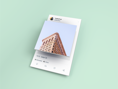 Isometric Twitter Post Mockup free psd free mockup social media tweet post isometric twitter