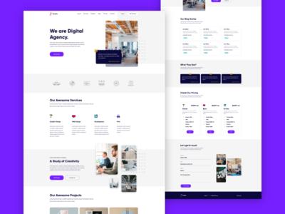 Fanatic - Agency XD Web Template web inspiration free web tempalte xd web template portfolio agency singlepage web template