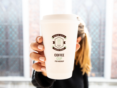 Woman Holding Cup Mockup free psd free mockup mockup mug coffee paper cup coffee cup holding cup cup woman