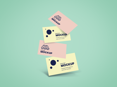 Falling Business Card Mockup free psd free mockup branding realistic presentation modern falling cards mockup business card mockup