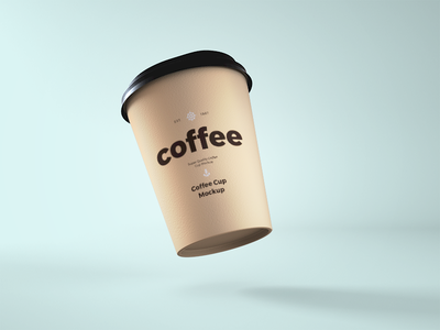 Paper Coffee Cup PSD Mockup free psd free mockup realistic cup mockup disposable cup mockup ice cream cup mockup paper cup mockup coffee cup mockup