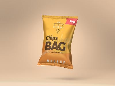 Chips Bag PSD Mockup psd mockup free psd free mockup package mockup snack bag mockup bag mockup chips bag mockup