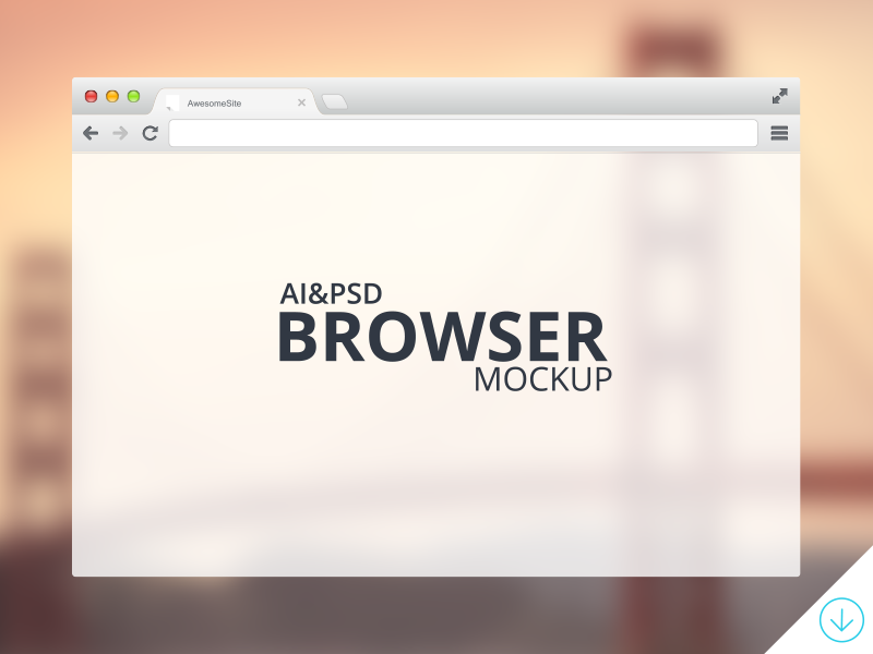 Freebie - Browser Mockup psd freebie free vector modern style design mock-up browser mockup chrome transparent