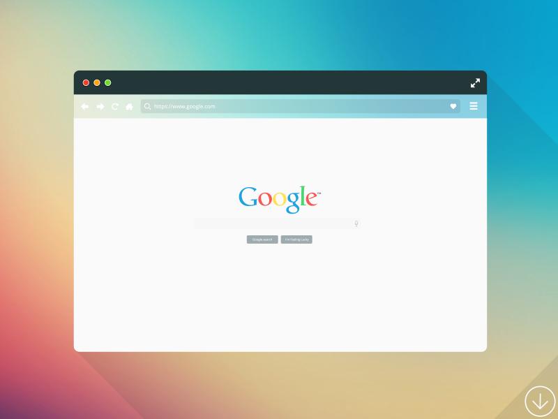 Freebie - Flat Browser Mockup free freebie psd flat vector browser mockup mock-up design modern chrome showcase
