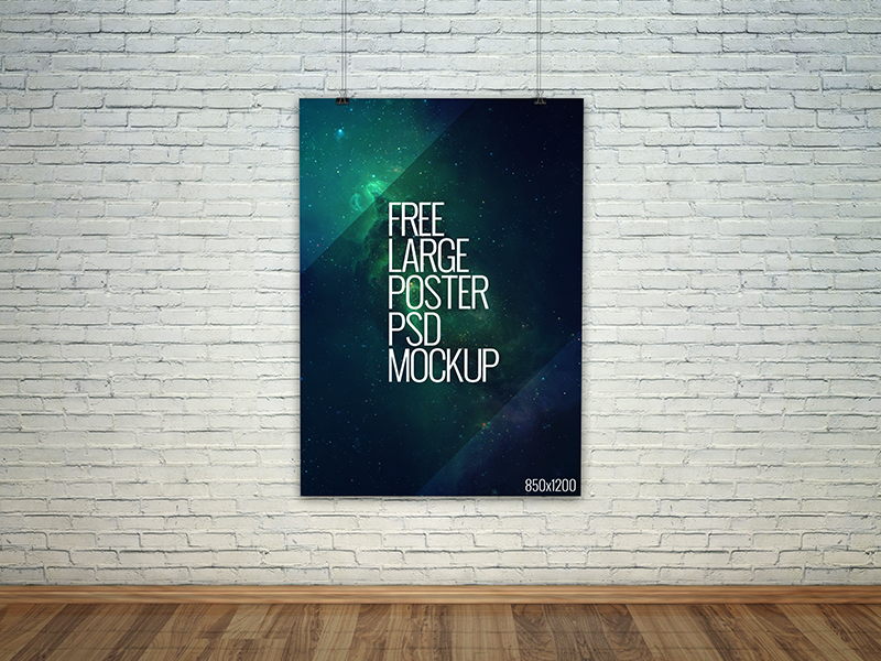 Freebie - Large Poster PSD Mockup by GraphBerry on Dribbble