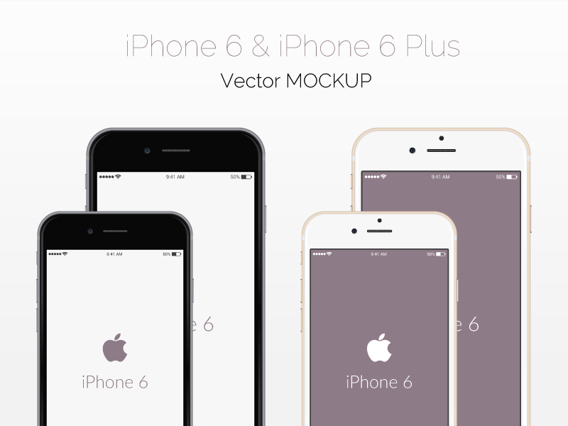 Freebie - Vector iPhone 6 Mockup free freebie vector iphone mockup psd ai modern mock-up phone 6 iphone 6