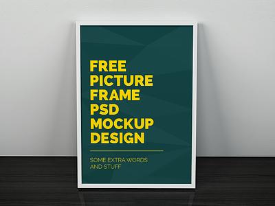 Freebie - Artwork Frame PSD Mockup free freebie psd mockup mock-up artwork frame picture image poster design showcase