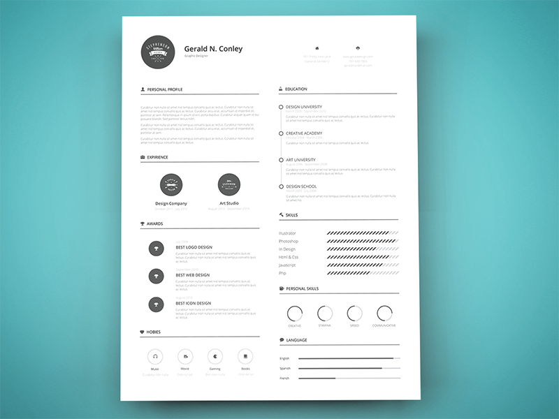freebie print ready resume template by graphberry dribbble