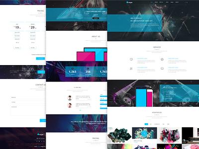 Freebie - Kasper,Creative PSD Template free freebie psd template theme single page creative portfolio agency clean web
