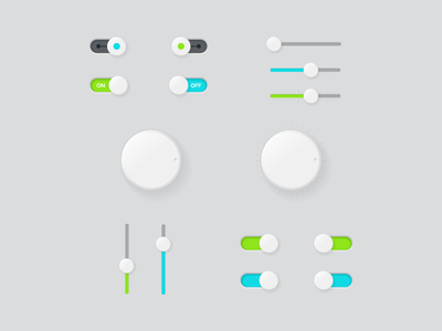 Freebie - Vector UI Design Buttons free freebie vector ui design buttons dial switch slider set circle collection