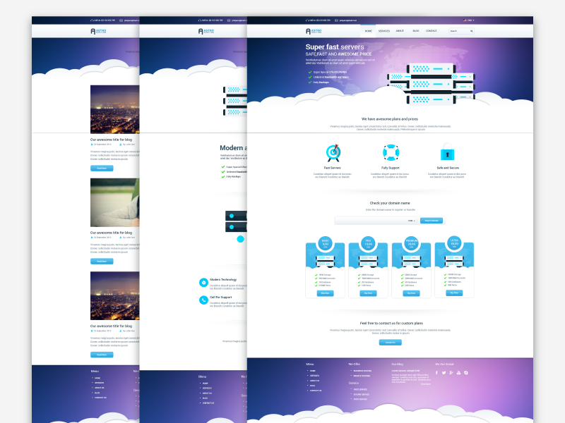 Freebie - Astro,Multipage Hosting Template free freebie astro theme template hosting web psd page design multipage server