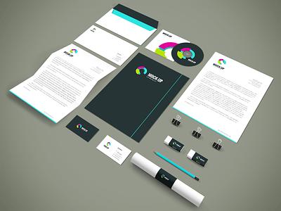 Freebie - Branding,Stationery PSD Mockup freebie free mockup mock-up psd stationery branding corporate collection showcase letterhead presentation