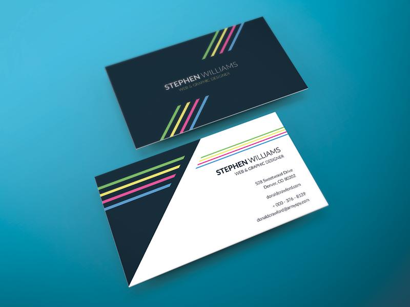 Freebie two side print ready business card by graphberry dribbble two side print ready vector business card design in ai formatee google font usedlink in txt fileandard 2x 35cmyk300dpi colourmoves