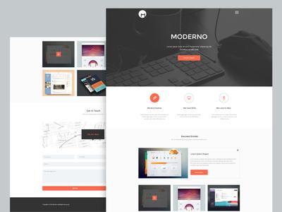 Freebie - Moderno,Creative Simple Portfolio Page