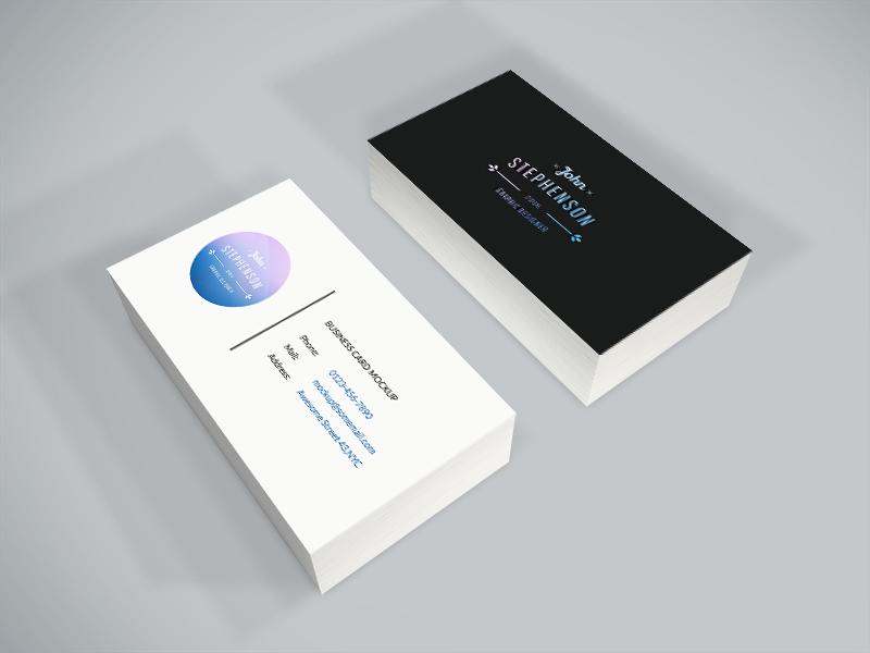 Freebie - Business Card PSD Mockup free freebie psd mockup mock-up business card showcase design minimal isometric business card