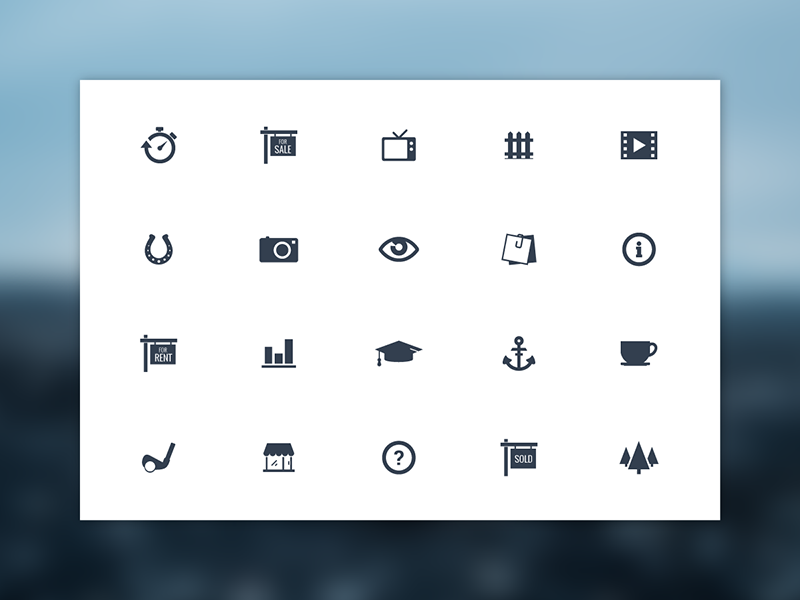 Freebie - 20 Vector Simple Icons free freebie icon set collection vector psd simple glyph modern icons symbols