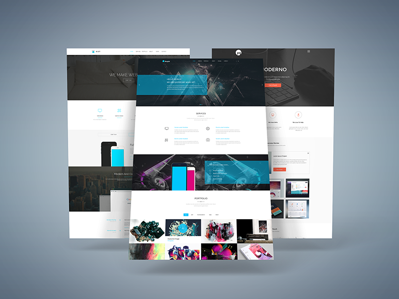 freebie 3d web presentation mock up by graphberry dribbble