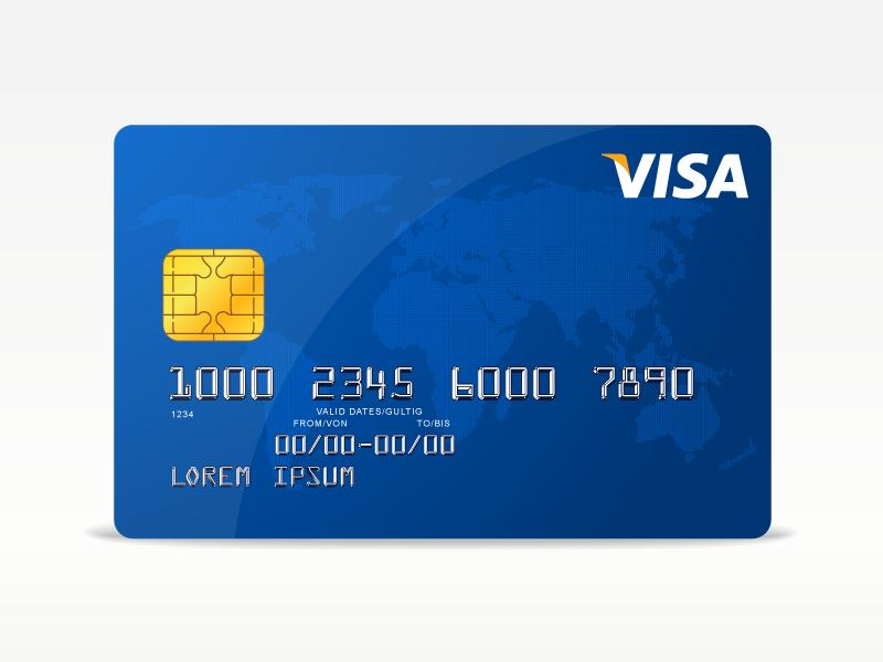 Freebie - Vector Visa Credit Card free freebie vector visa credit card design modern ai money style credit card