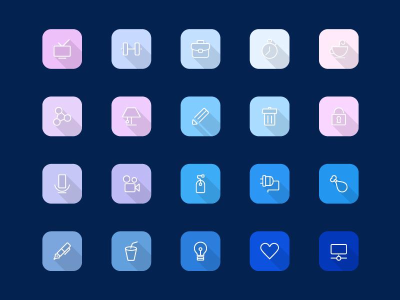Freebie - Viro,Modern Icon Set free freebie psd ai vector icon icons set sign style phone icon set