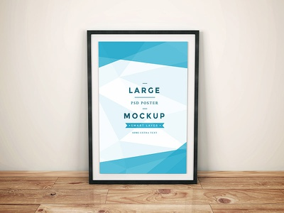 Freebie - Artwork Frame PSD Mockup free freebie psd mockup mock-up poster large realistic modern minimal wall floor