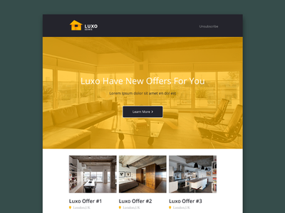 Freebie - Luxo PSD Email Template minimal minimalisitc flat design web newsletter template email psd luxo freebie free