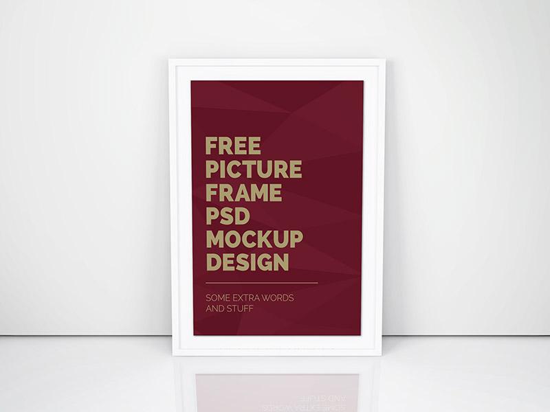 Artwork Frame PSD Mockup  movie frame poster psd mockup artwork freebie free
