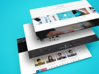 Multiple Web Screens Perspective PSD Mockup