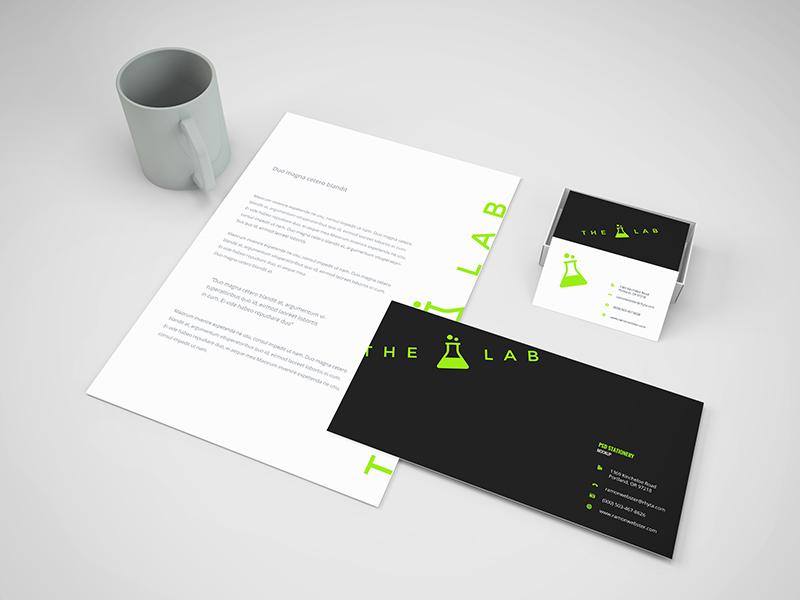 Branding Stationery Mockup letterhead psd breebies free branding paper a4 memorandum letter business card mug mockup