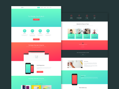 Zoom - Single Page Web Template portfolio free onepage singlepage web template psd