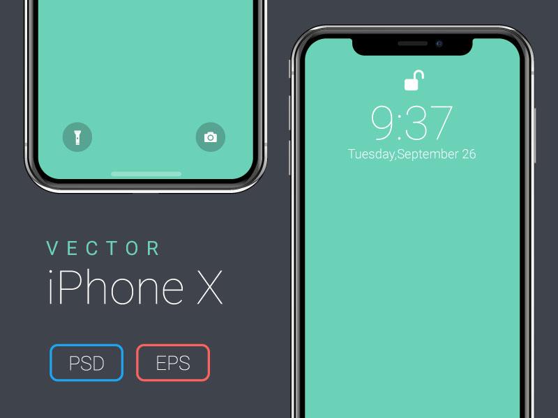Vector iPhone X Mockup smart object freebie free apple app eps psd mockup x iphone