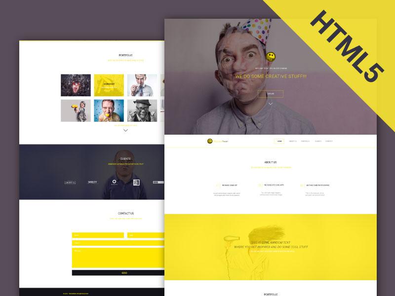 YellowMoon - HTML Landing Page bootstrap onepage web landing free js css html